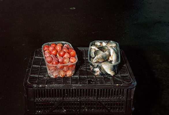 Still life with mirabelles